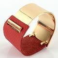 ADORÁVEL amantes genuína pulseira de couro de ouro Da Moda doces multicolor Mulheres pulseira Nova chegada