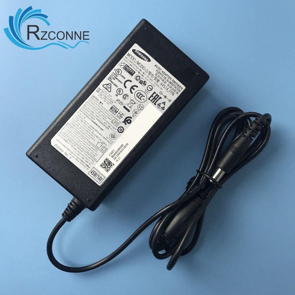 Carregador da Fonte de Alimentação do Adaptador ac para Samsung w U28e590d S22c300h Bn44-00800b Lu28e590ds – za A4514_fpn 14 v 3.22a 45