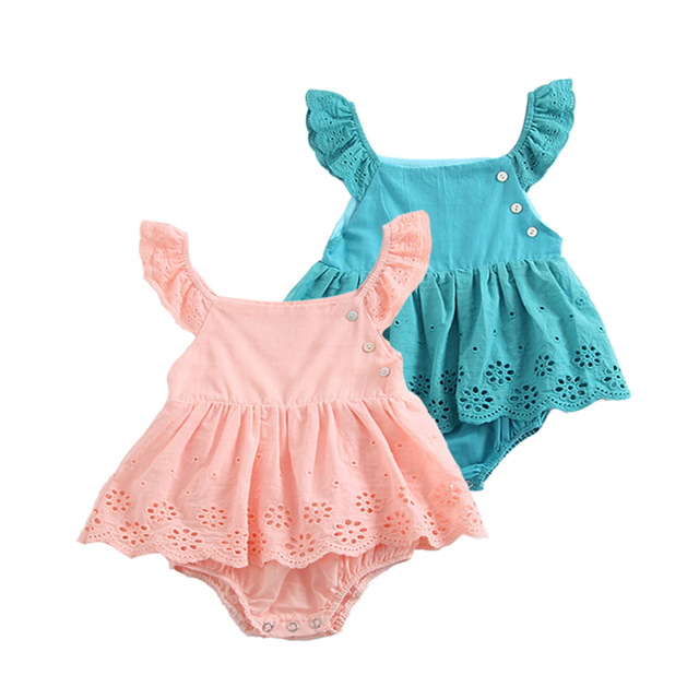 Baby Girl Summer Clothes Cotton Bodysuits Sleeveless Kids Twins 1st Birthday Gift Cute Wear