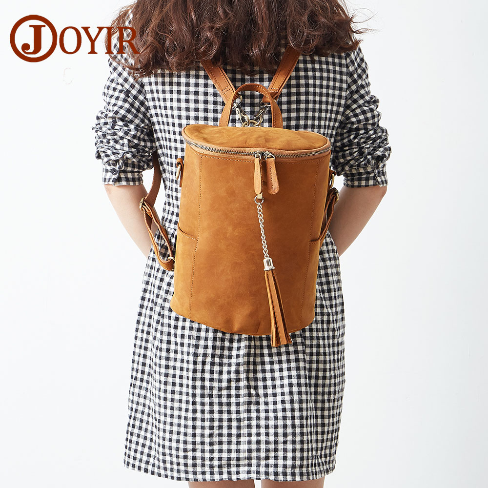 JOYIR Woman Backpack School Bags For Girls Genuine Leather Bag Female Shoulder Bags Backpack Leather Bolsa Feminina Mochila 662