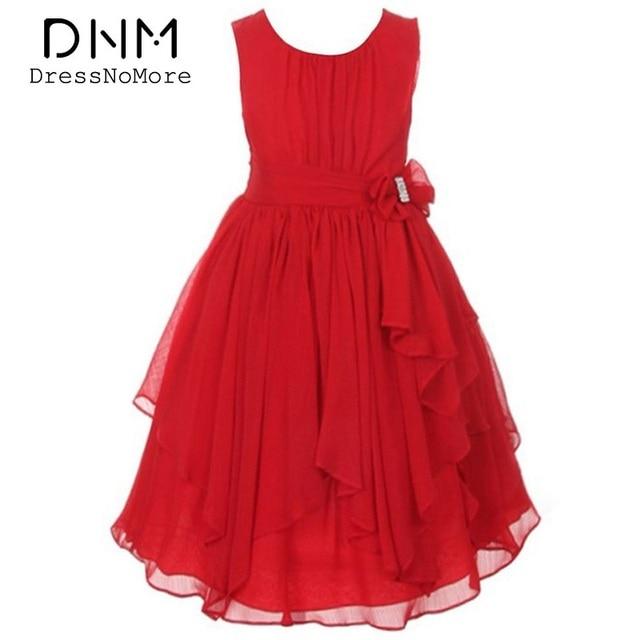 Dress For Girls Princess Dress Girl Wedding Party Christmas Dress Girl Chiffon Sleeveless Ankle-length Ball Gown Kids Clothes