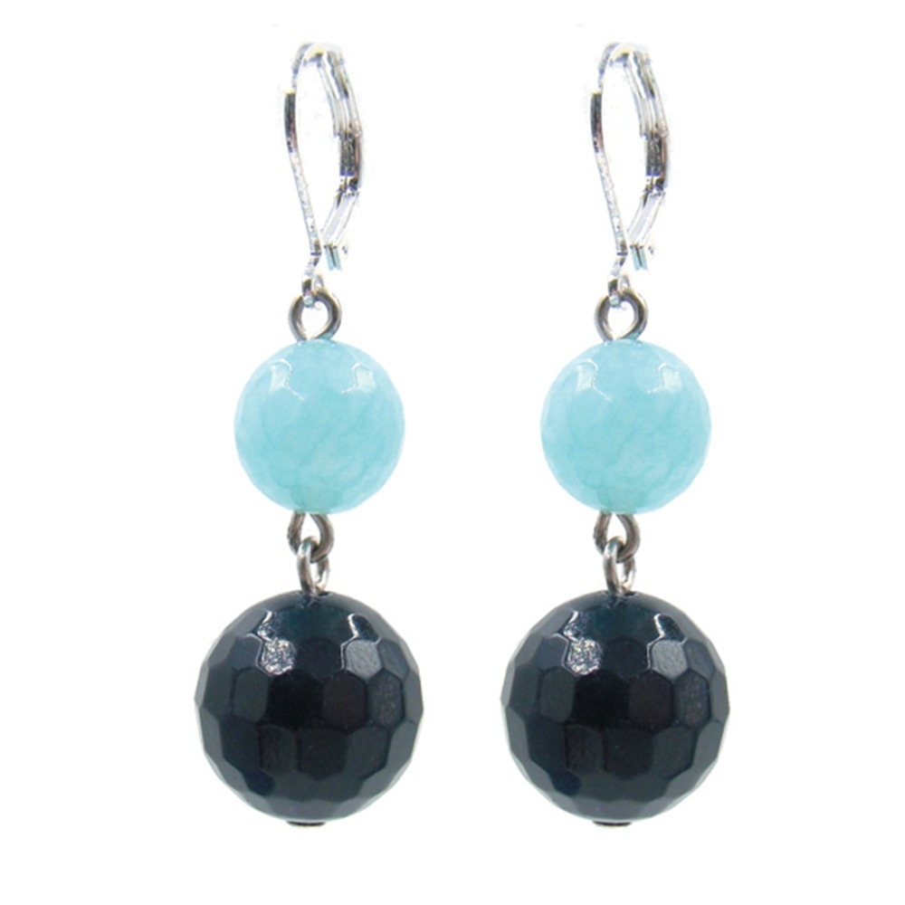 For Gift Natural Stone Vintage Classic Gorgeous Aquamarines Sapphires Pendant Drop Earrings for Women