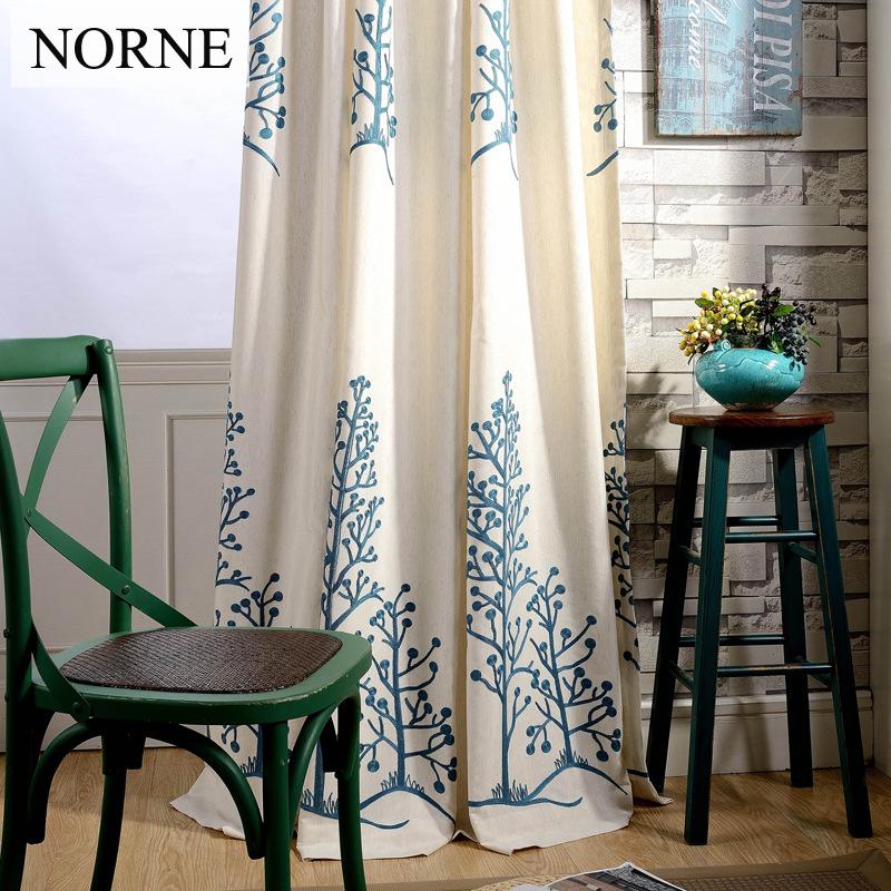 NORNE Klassische Zimmer Verdunkelung Stickerei Vorhang Panel Schlafzimmer Fenster Verdunklungsvorhnge Vorhnge Voile Fr Wohnzi