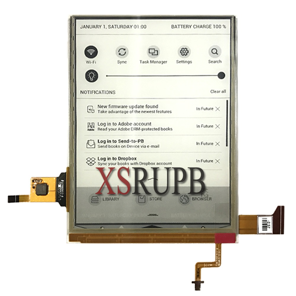 100% nouveau eink LCD écran d'affichage pour pocketbook 641 PB641 PB641-A-RU Aqua 2 ebook lecteur écran livraison gratuite