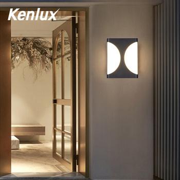 Kenlux 18W zewnętrzne oświetlenie na ścianę typu Led plastikowy wodoodporny lampa energooszczędna kryty ganek LED kinkiet ogród oświetlenie zewnętrzne tanie i dobre opinie NoEnName_Null Aluminium Pieczenia K-2344 Wall Llighting indoor outdoor Fashion ROHS IP65 85-265 v Kinkiety 2 years Z tworzywa sztucznego