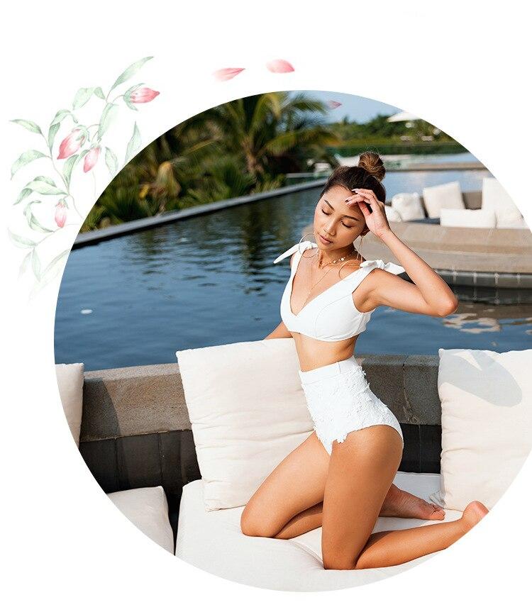 64a8dc462a Uchiha LQ Swimwear High Waisted Australia Retro New Split Sewing Flower  Swimsuit Skirt Bottom Bathing Suit Women Women Swimwear-in Bikinis Set from  Sports ...