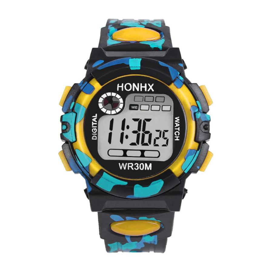 Moment +% 23 L05 HONHX Digital Часы дети Дети Многофункциональный Водонепроницаемый Спорт Электронный Часы Наручные часы orologi bambini
