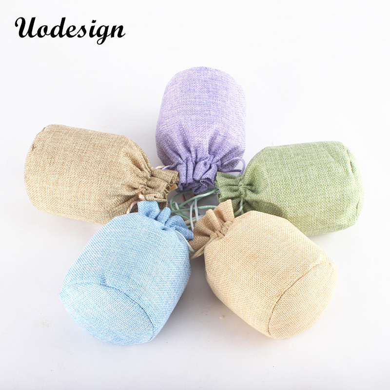 f06c9eda8f13 US $42.75 5% OFF|50pcs High Class Linen Drawstring Pouch Jewelry Bag Custom  Logo Jute Pouch Burlap Party Candy Gift Round Bottom Packaging Bag-in ...