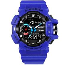 SMAEL Masculinoกันน้ำกลางแจ้งกีฬาสไตล์ยอดนิยมช็อกนาฬิกาผู้ชายควอตซ์ชั่วโมงนาฬิกาดิจิตอลทหารLEDนาฬิกาข้อมือ