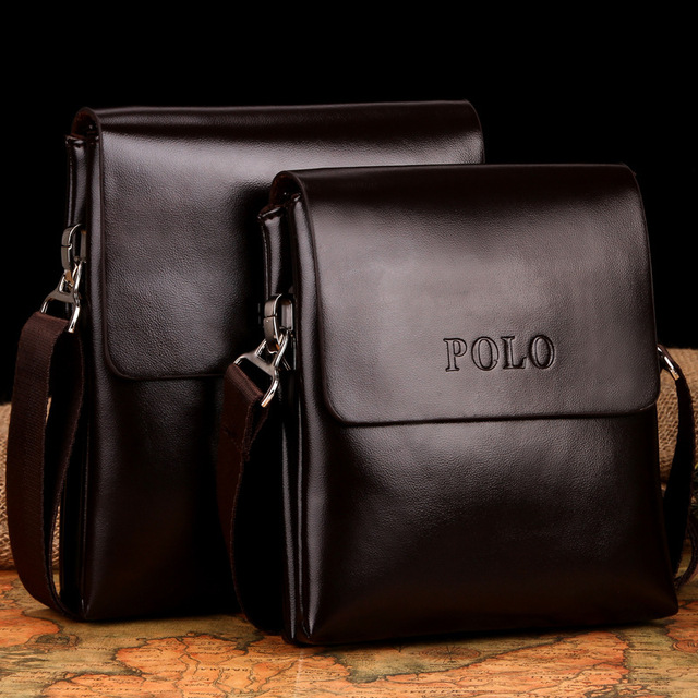 103cfd1119e Fashion POLO Business Men Shoulder crossbody bags Designer handbags Top  leather bag men messenger bags bolsas