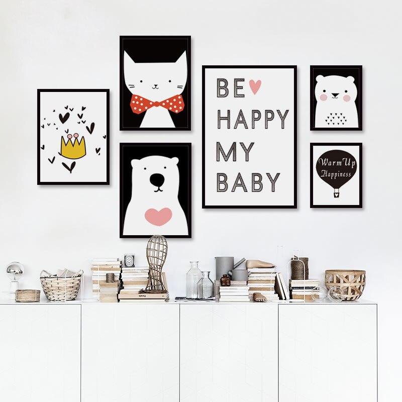 Északi fekete-fehér, szép állatok, A4-es vászonfestmény Art - Lakberendezés