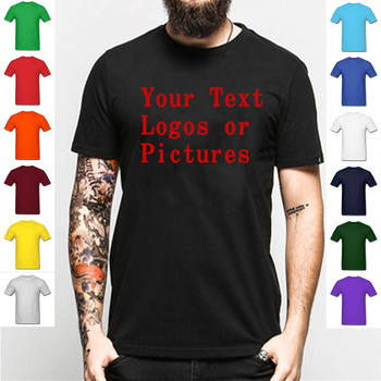 Custom Men T Shirt Your NAME AND NUMBER Cotton Casual Brand Clothing TShirts Print Your Own Design High Quality Shirt  Camisetas number