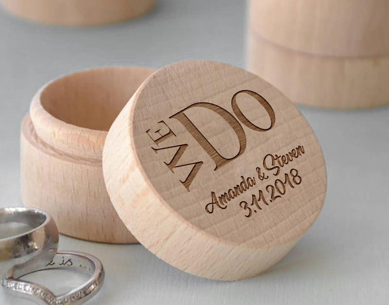 Custom Rustic Wedding Ring Bearer Box Personalized Wooden Ring Holder Box Romantic We Do Wedding Engagement Gifts (1)