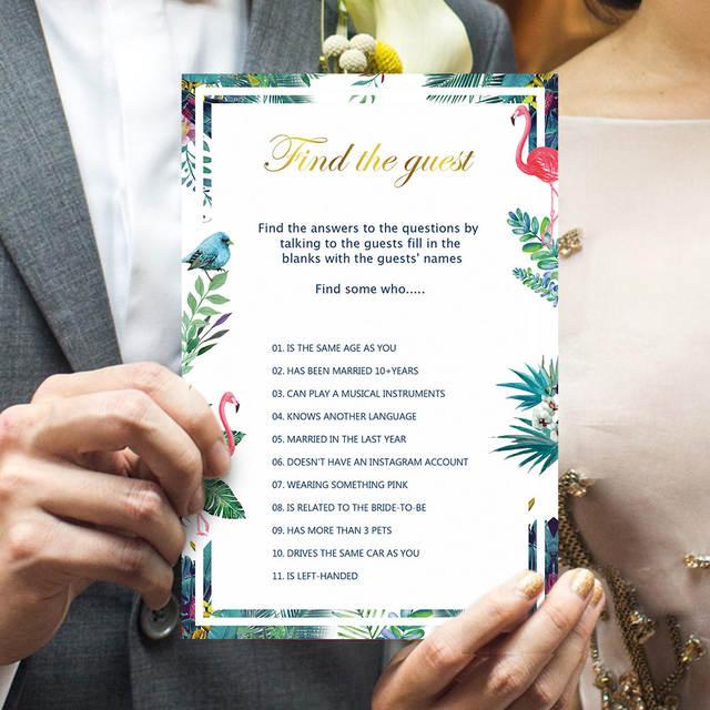Wedding Card Game Set 50 Pcs