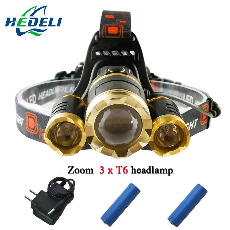 3T6 <font><b>10000</b></font> lumens led headlight head lamp waterproof <font><b>lights</b></font> cree xm l t6 headlamp18650 rechargeable battery head flashlight torch