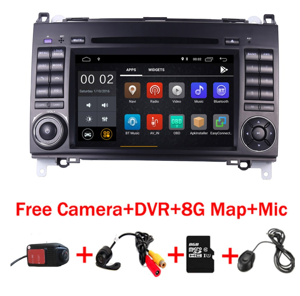 7IPS Touch Screen Android 8.1 Car DVD Player for Mercedes benz B200 W169 A160 Viano Vito GPS NAVI RADIO BT wifi 3G dvr free map