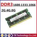 Original 2gb 4gb 8gb 16GB DDR3 DDR3L 1066 1333 1600 PC3-8500 PC3-10600 PC3-12800 SODIMM Memory Ram Memoria For Laptop Notebook