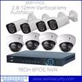 Открытый Крытый 3-МЕГАПИКСЕЛЬНОЙ Сети POE Комплект Камеры С Переменным Фокусным Расстоянием Пуля Купольная Ip-камера Видеонаблюдения 16 канала NVR 8POE NVR4216-8P