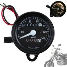 DC 12V Universal Motorcycle Speedometer Odometer Dual LED Speed Meter Gauge Motorbike Instrument km/h