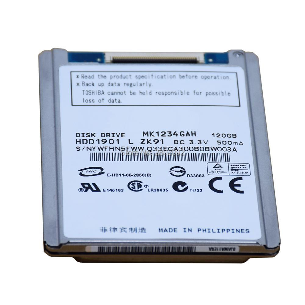 """NEW 1.8"""" HDD CE/ZIF 120GB MK1234GAH HARD DISK DRIVE FOR sony sr68e XR150 XR100XR550  JVC HD 550 HD650 REPLACE mk8034GALmk1214gah-in Harddisk & Boxs from Consumer Electronics    1"""