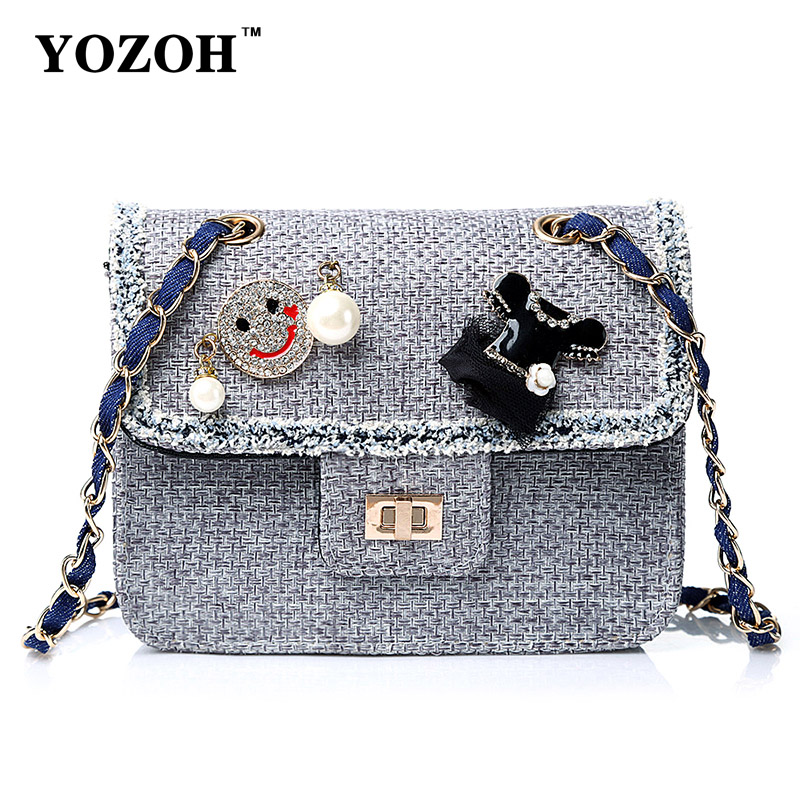 Yozoh handbag shoulder bags handbags for girls 2016 korean fashion bags cute shoulder bag for Korean style fashion girl bag