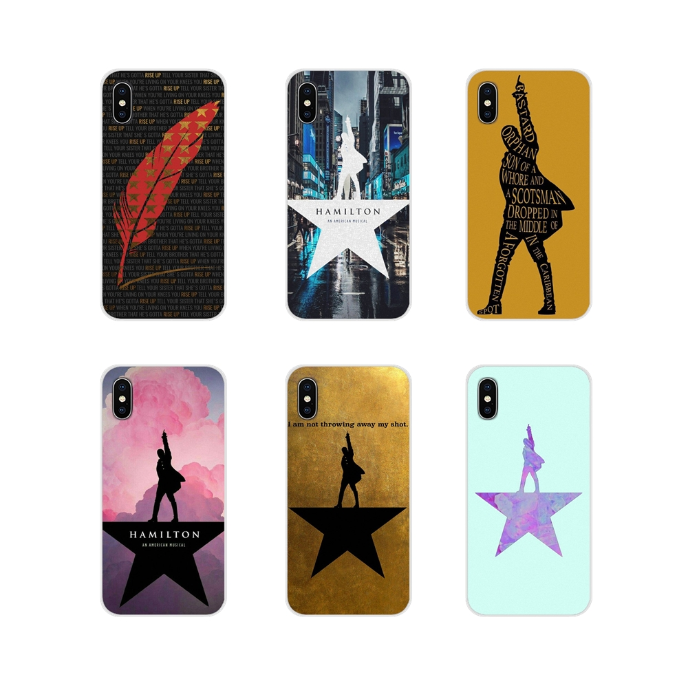 Transparent Soft Shell Cases Broadway hamilton rise up For Apple iPhone X XR XS MAX 4 4S 5 5S 5C SE 6 6S 7 8 Plus ipod touch 5 6 image