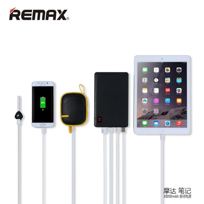 Remax Portable 30000 Mah batterie externe pour IPhone 7 8 X XR pour IPad 4 USB chargeur de batterie externe téléphone Portable 30000 mAh batterie externe