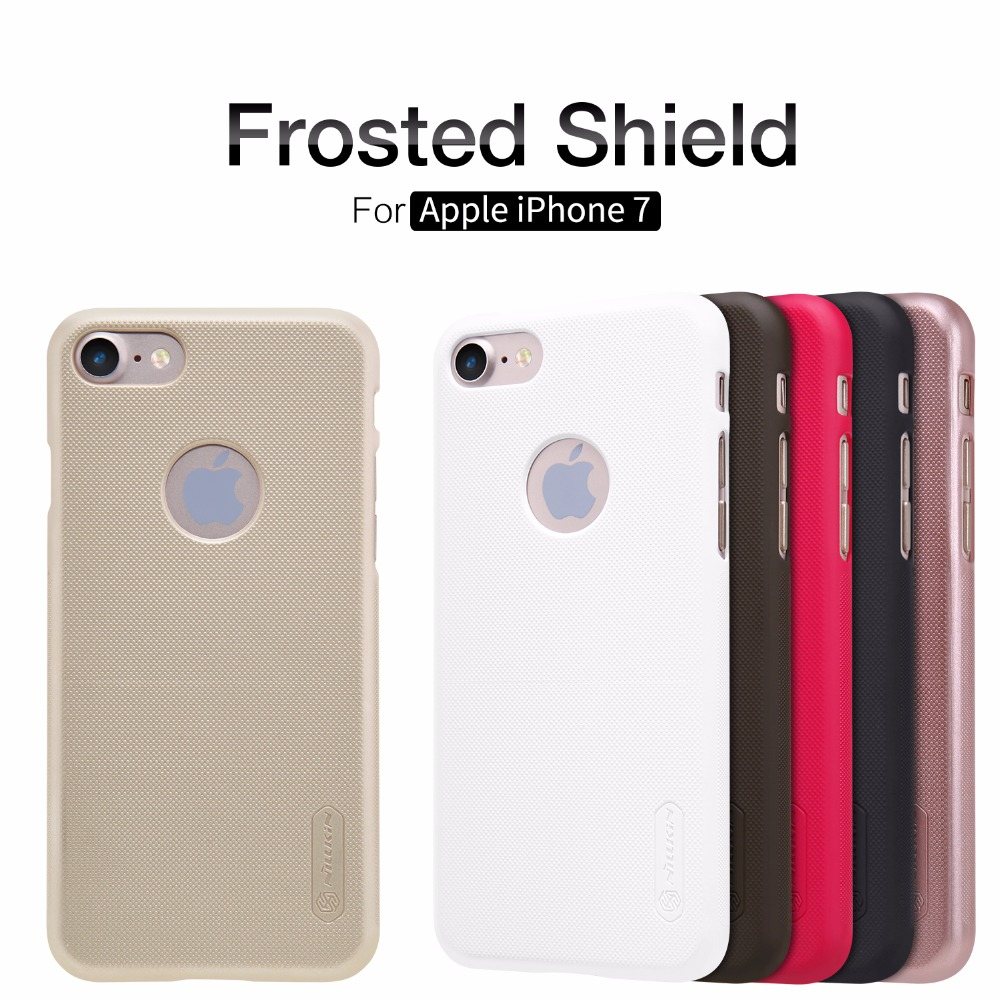 Original Nillkin Super Frosted Shield Hard Back Cover Case for iPhone 7 Nilkin Phone Case + Screen Protector
