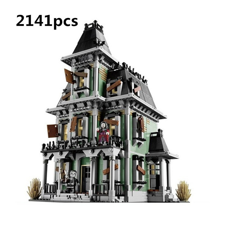 New LEPIN 16007 2141Pcs Monster fighter The haunted house Model set Building Kits Compatible With 10228 toys for children maze 2141pcs the haunted house model set building kits block toy 16007 diy monster fighter educational blocks toys for children
