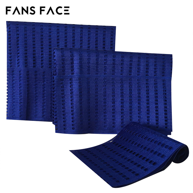 FANS FACE 2017 African Traditional ASO OKE For Women 3pc/Bag Orignal Nigeria Beautiful Headtie afro GELE Headscarf Royal Blue 2