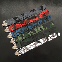 MERJUST 24mm Camo Gray Green Red Blue White Silicone Rubber Watchband For Panerai Strap PAM 44mm Case Bracelet Butterfly buckle