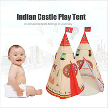 New Arrival Indian Style Children Toy Tent Kids Portable Folding Castle Play Tent Indoor Outdoor Tente Enfant Playhouse Toy