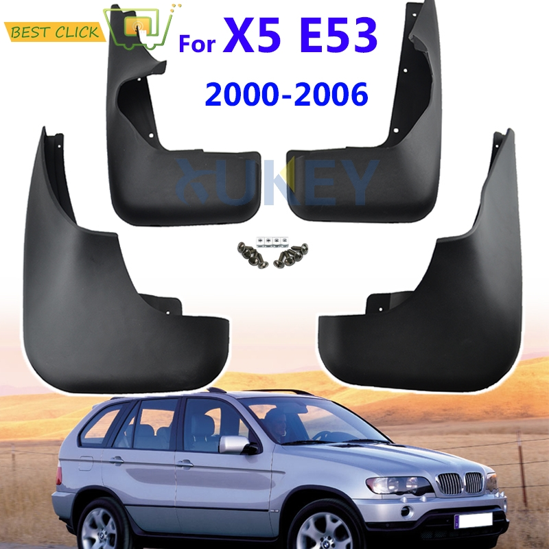 Set Molded Mud Flaps For BMW X5 E53 2000 2006 Mudflaps Splash Guards Flap Mudguards Fender