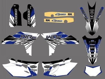 NEW STYLE TEAM GRAPHICS BACKGROUNDS DECALS FOR Yamaha WR450F WRF450 2012 2013 2014 2015 WRF 450 WR 450F
