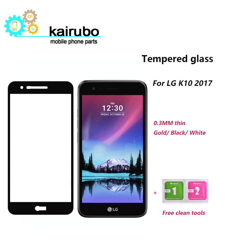 2 5D 0 26mm 9H Premium Tempered Glass For LG K10 2017 Version Screen Protector Toughened protective film for LG K10 2017 Glass in Phone Screen Protectors from Cellphones Telecommunications