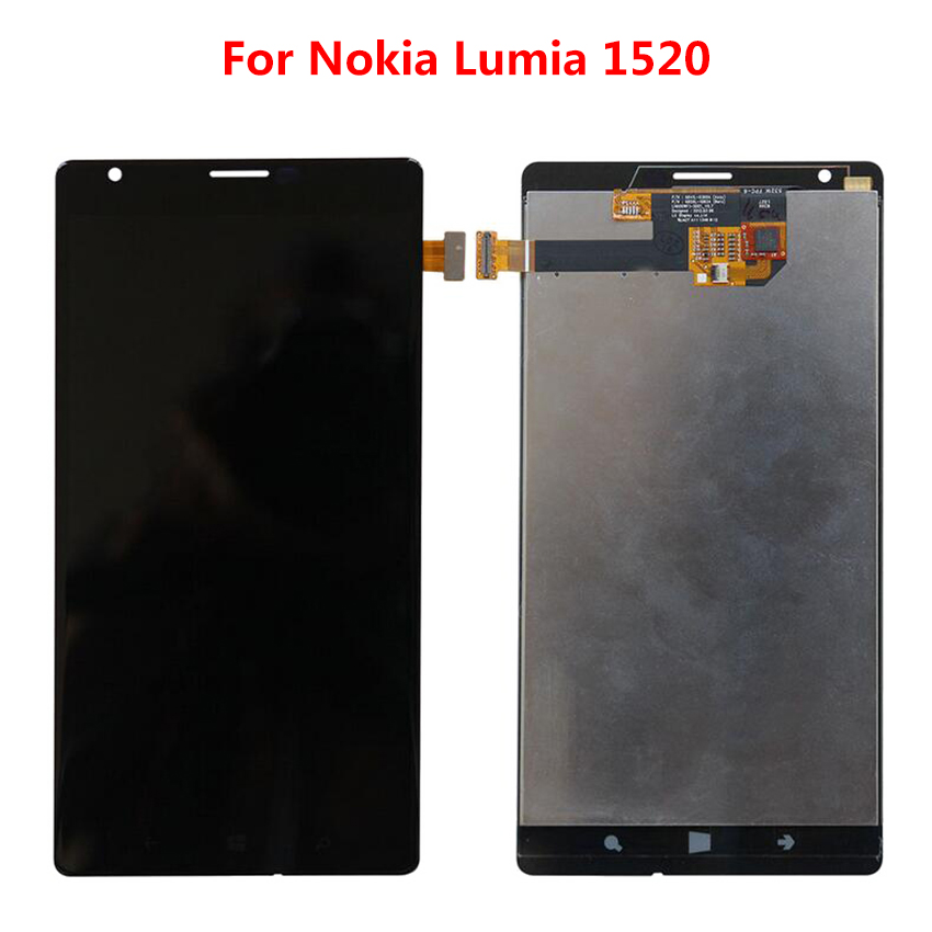 Per Nokia Lumia 1520 Nero LCD Display Touch Screen Digitizer Assembly + Telaio parte di Ricambio del telefonoPer Nokia Lumia 1520 Nero LCD Display Touch Screen Digitizer Assembly + Telaio parte di Ricambio del telefono