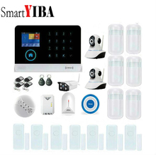 SmartYIBA WIFI GSM Alarm APP Control Indoor Outdoor Network Camera Wireless Blue Flash Siren Gas Leak
