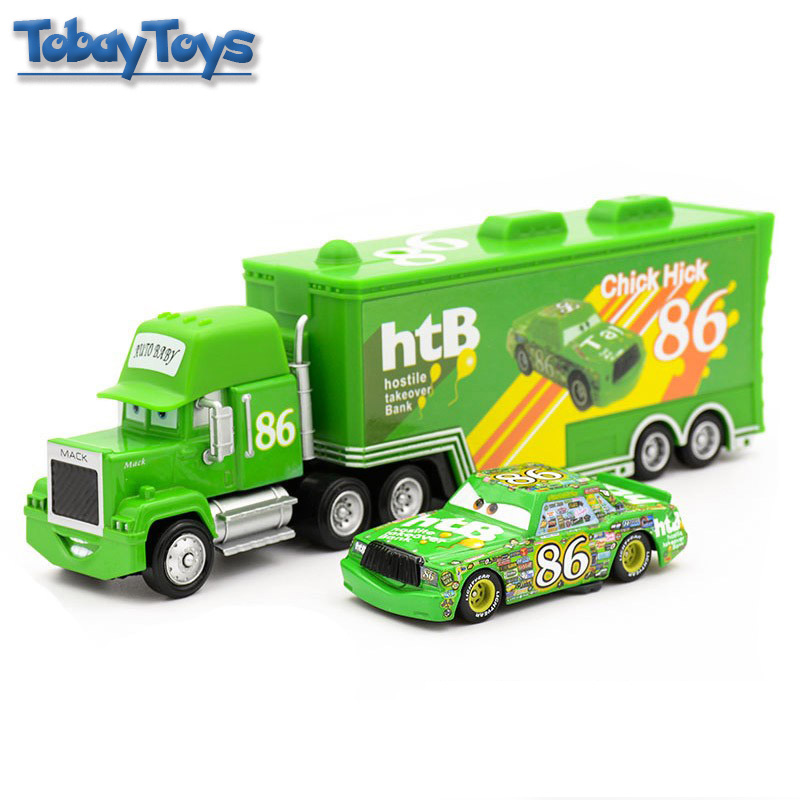 859504a88a27f US $29.02 |Pixar Cars Mcqueen Mack Truck Toy 6 Style 6 Colors Wheel 1:55  Lighting Racing Cars3 Separable Transporter Truck Christmax Gift-in  Diecasts ...