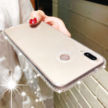 Diamond Glitter Soft Silicone Case For Huawei P20 Pro Mate 20 10 Lite Nova 3 Y6 Prime Y9 2018 Honor 8X 9 Cover Bling TPU Cases(China)