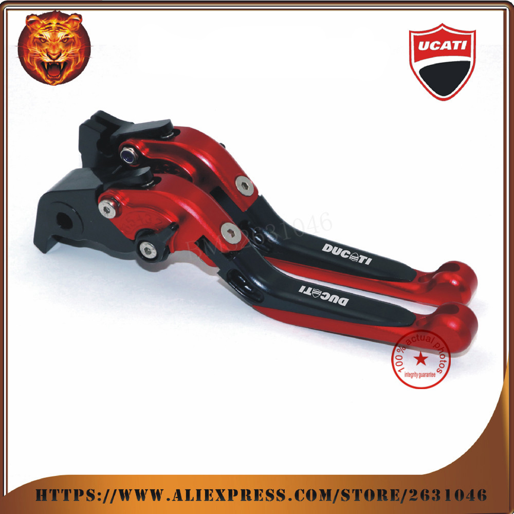 For New design DUCATI HYPERMOTARD 821 SP 2013 2014 2015 2016 Red  Motorcycle Adjustable Folding Extendable Brake Clutch Leve автоинструменты new design autocom cdp 2014 2 3in1 led ds150