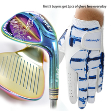Golf clubs wedges right handed unisex Colorful color 50/52/56/58/60 Degree Steel Shaft free shipping