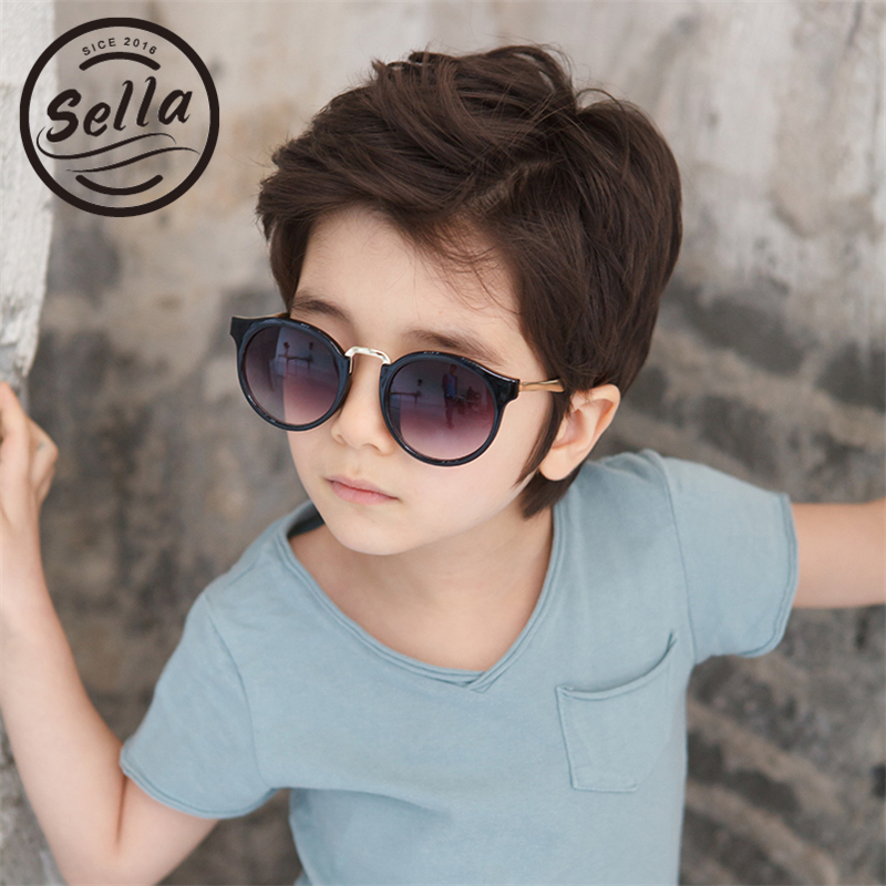 Sella korean style children sunglasses fashion boys girls round colorful sun glasses kids summer What style glasses are in fashion 2015