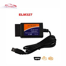 Newest Version OBD2/OBDII scanner ELM327 USB v1.5 Interface ELM 327 USB Interface OBDII CAN-BUS Scanner