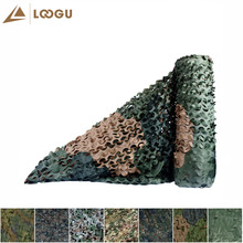 LOOGU E 1.5M*4M Woodland Jungle Hunting Sun Shelter Camo Netting Outdoor Camping Camouflage Netting Military Car Tent Shade