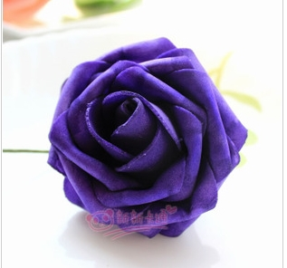 500 шт. X(6 см) один Пена розовыми цветами стволовых в 12 различных Цвета для выбора свадебные цветы.* по EMS - Цвет: Dark Purple