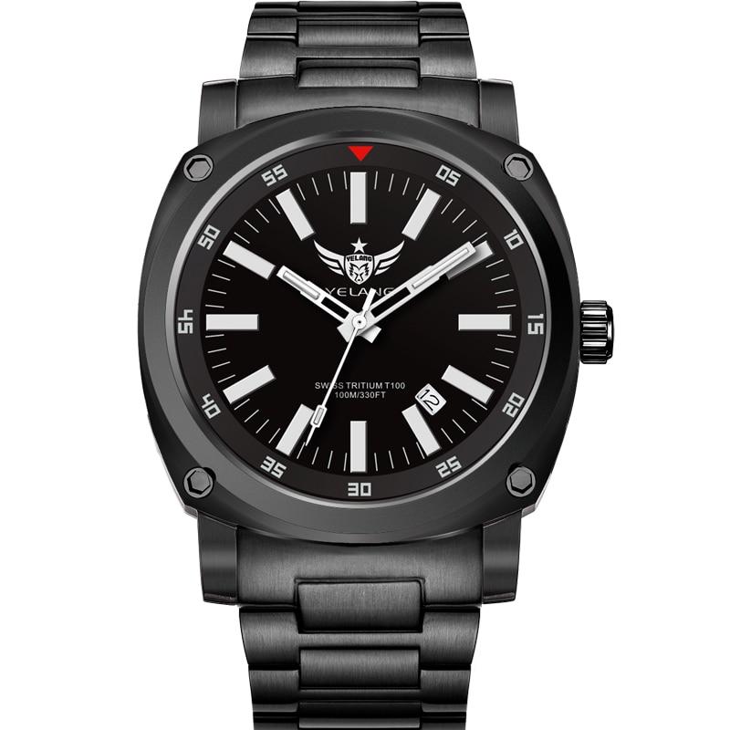 YELANG V3.3 plus super bright tritium gas luminous mens sapphire mirror men business titanium alloy automatic mechanical watch