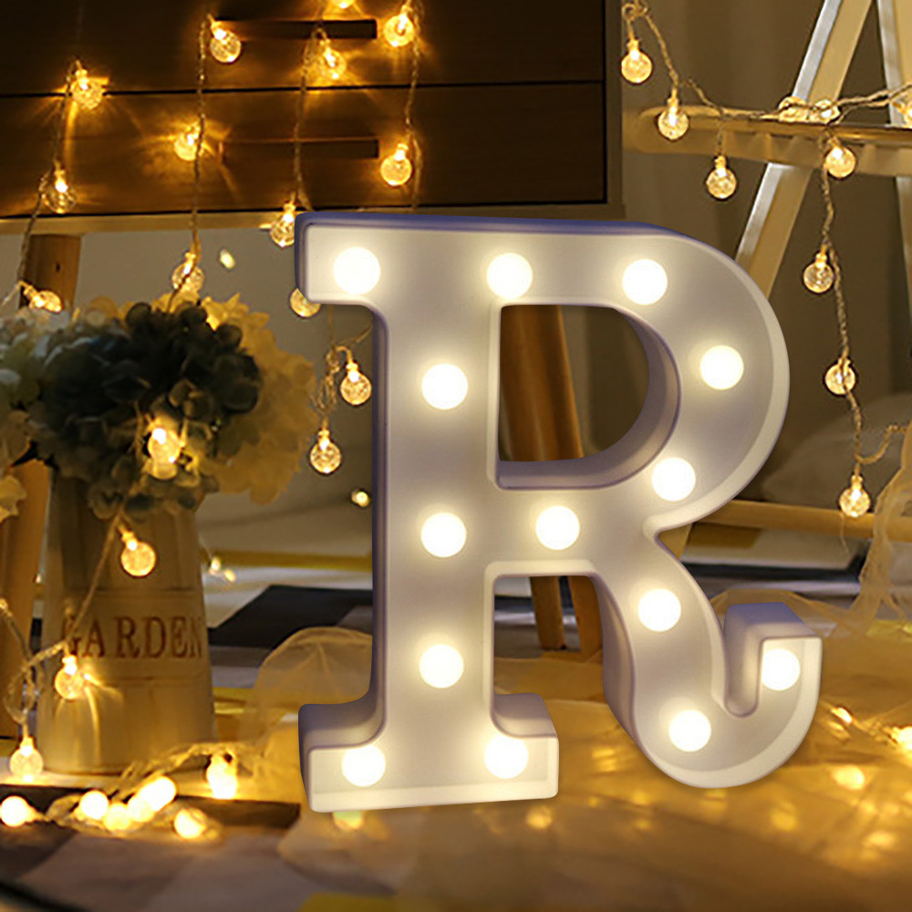 Led Letter Light Home Wedding Decor Alphabet Led Romantic Letter