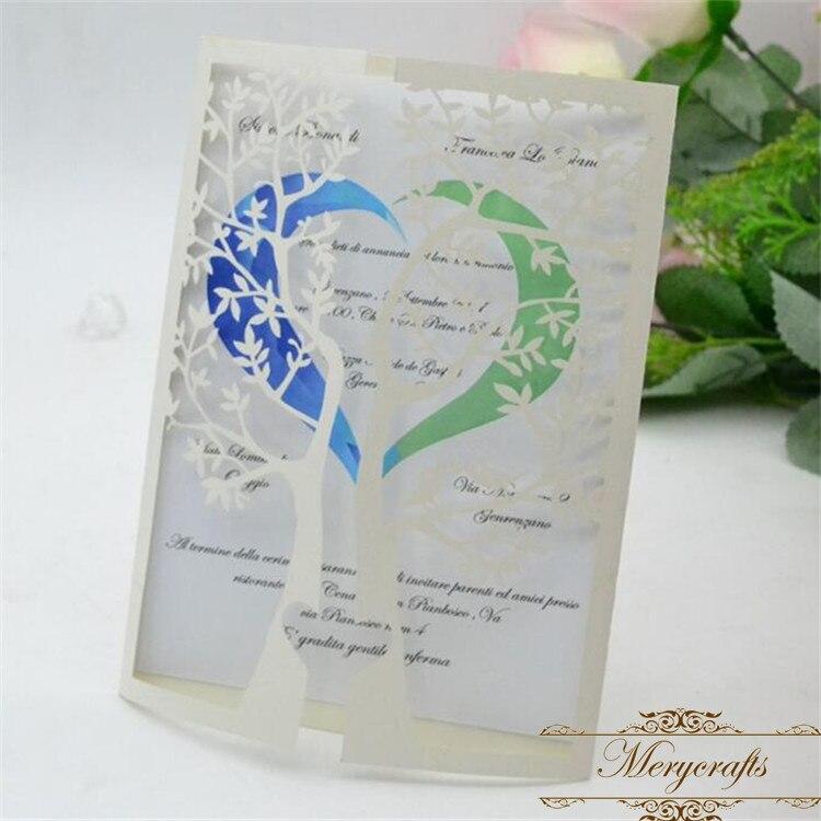 Laser Cut Tree Wedding Invitations: Aliexpress.com : Buy Beige Pearl Laser Cut Tree Wedding