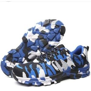 Image 3 - Inşaat erkekler açık artı boyutu çelik burunlu iş ayakkabıları ayakkabı erkekler kamuflaj delinme geçirmez güvenlik ayakkabıları nefes