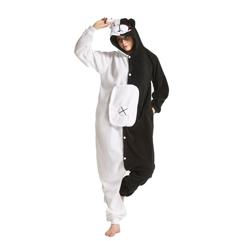 Adult Cartoon Monokuma Onesies Brown Teddy Pedo Kumamon Rilakkuma Black Bear Animal Kigurums Pajamas Sleepwear Cosplay Costume cosplay costume black bear costumesrilakkuma bear costume - AliExpress
